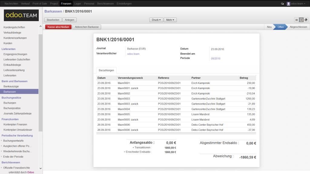 Barkassen aus Odoo – Open Source ERP, Finanzbuchhaltung & -verwaltung